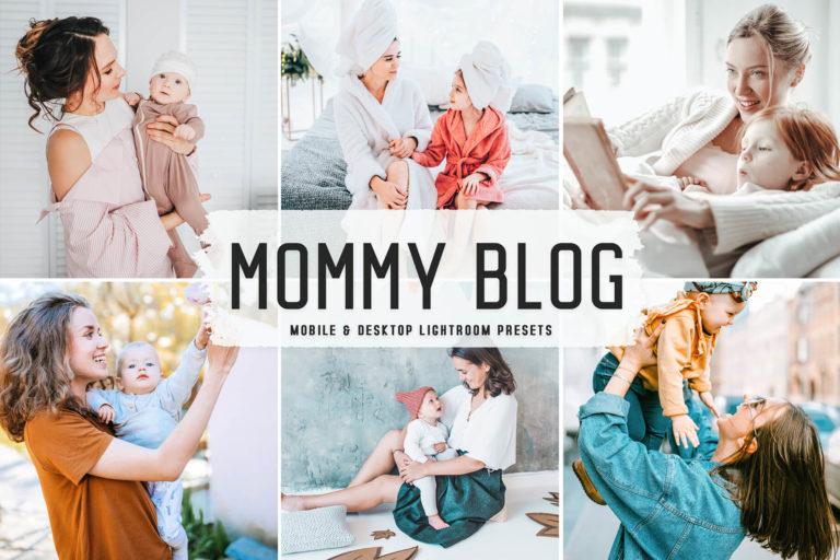 Preview image of Mommy Blog Mobile & Desktop Lightroom Presets