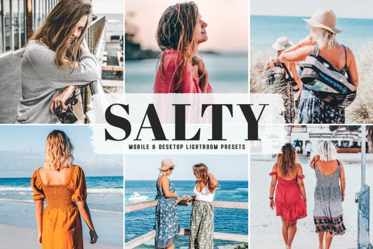 Preview image of Salty Mobile & Desktop Lightroom Presets