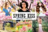 Last preview image of Spring Kiss Mobile & Desktop Lightroom Presets