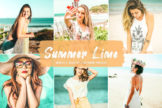 Last preview image of Summer Lime Mobile & Desktop Lightroom Presets