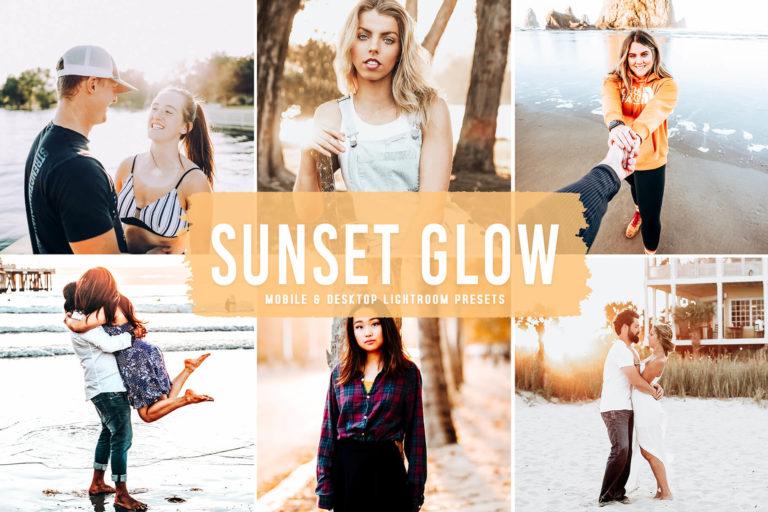 Preview image of Sunset Glow Mobile & Desktop Lightroom Presets