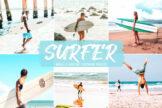 Last preview image of Surfer Mobile & Desktop Lightroom Presets