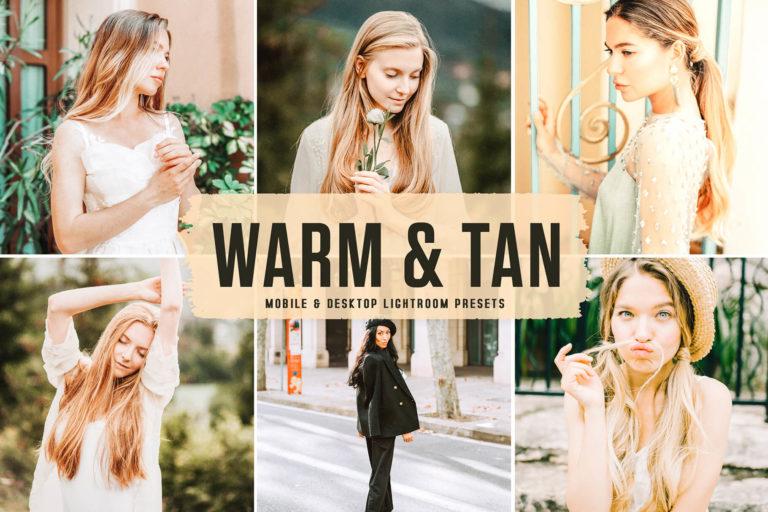 Preview image of Warm & Tan Mobile & Desktop Lightroom Presets