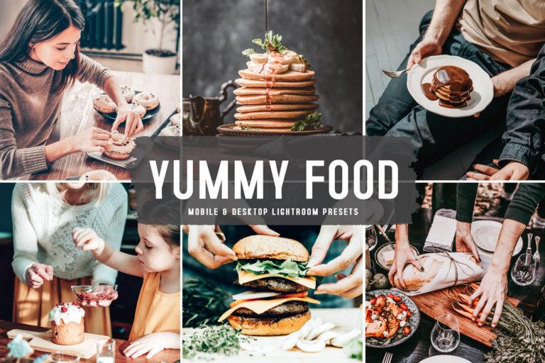 Preview image of Yummy Food Mobile & Desktop Lightroom Presets