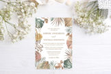 Last preview image of Boho Floral Pampas Grass Foliage Wedding