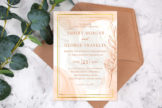 Last preview image of Classic Luxe Marble Wedding Invitation Template