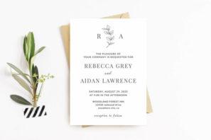 Elegant Minimalist Wedding Invitation Template