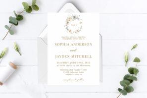 Elegant Borders BW Minimalist Wedding Invitation