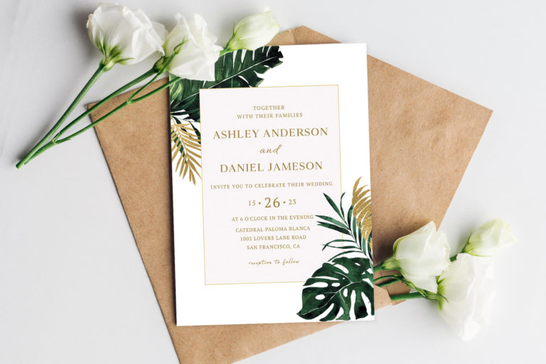 Preview image of Tropical Monstera Wedding Invitations