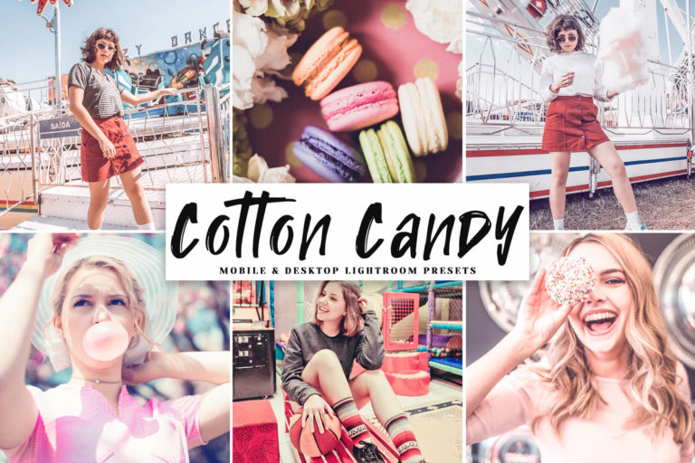 Preview image of Cotton Candy Mobile & Desktop Lightroom Presets