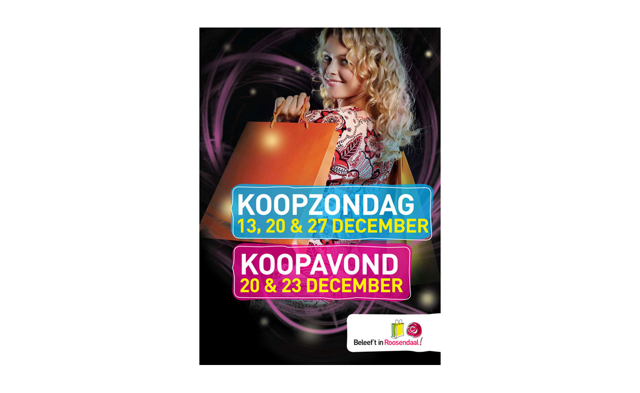 Roosendaal koopzondag & koopavond affiche