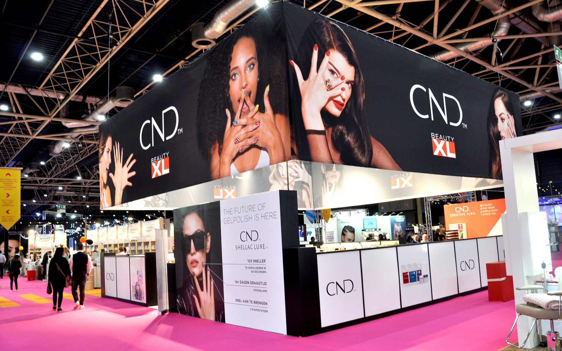 Beauty XL CND beursstand volledig