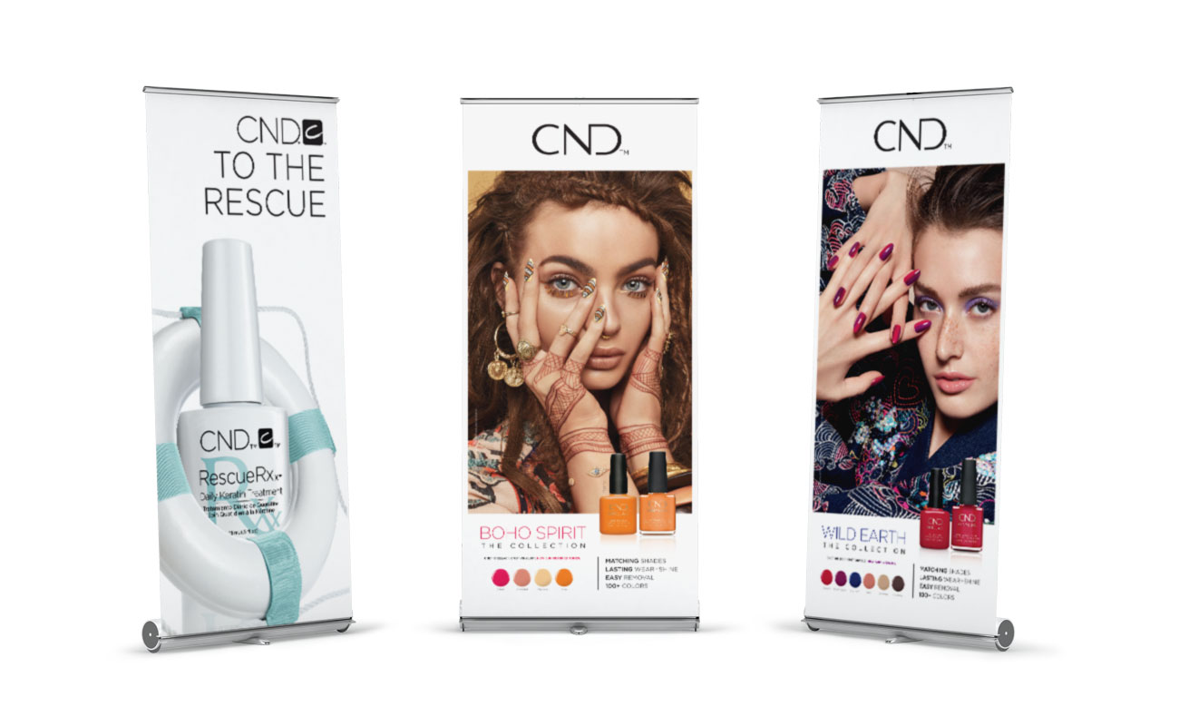CND Beauty XL verticale roll-up banner