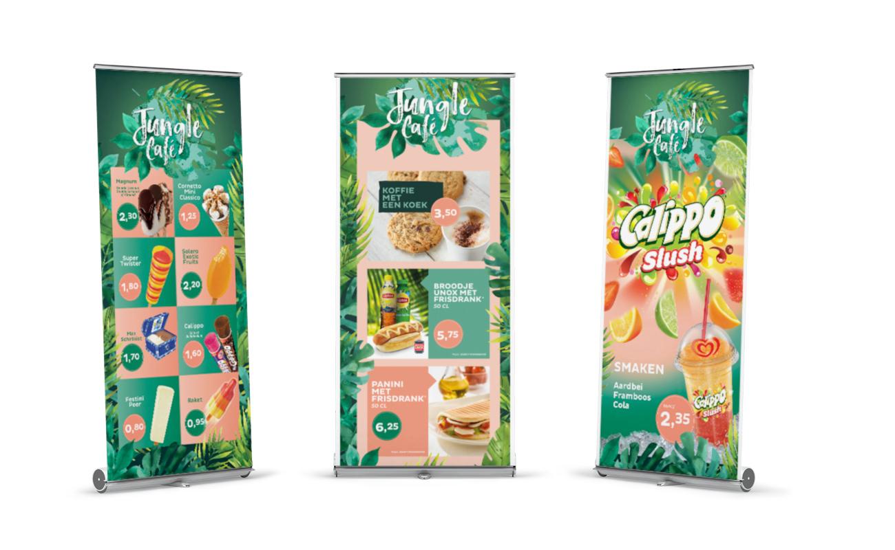 Diergaarde Blijdorp Jungle Café rollup banners