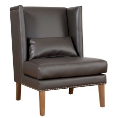 Grey Wing Chair Orange Dining Chairs Australia Chelsea Leather