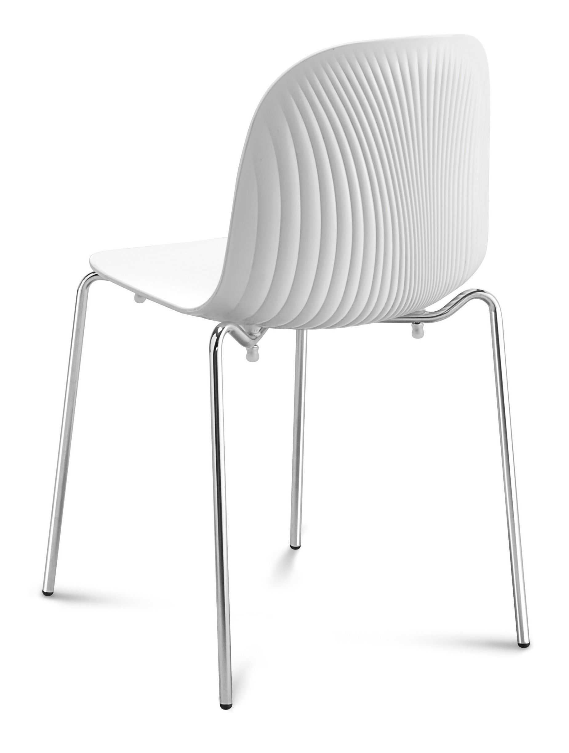 White Stackable Chairs Domitalia Playa Stacking Chair White