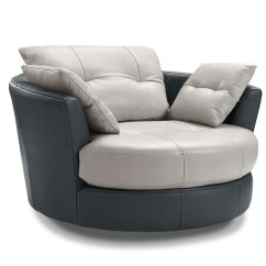 Circular Sofa Chair Chairs With Cane Seats Cecile Round Leather Armchair