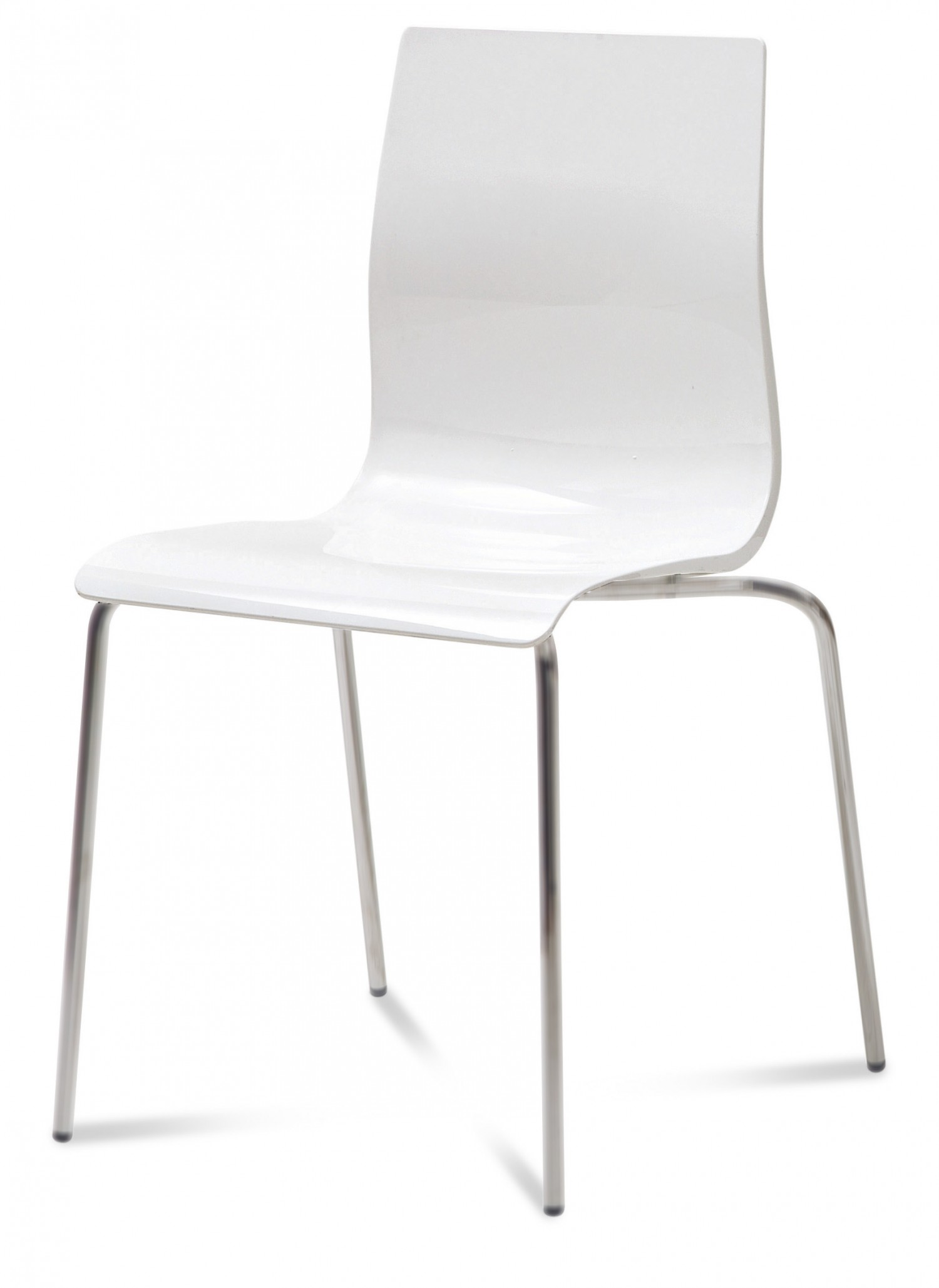 White Stackable Chairs Domitalia Gel B Stacking Chair In White