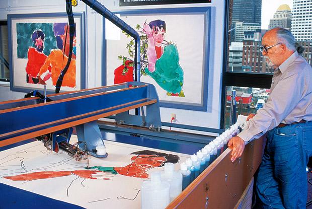 Harold Cohen creative AI AARON painting
