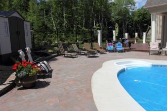 Paverstone by pool