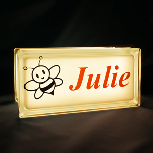 Personalised gift Kids night light with bee
