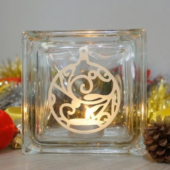Christmas bauble candle holder