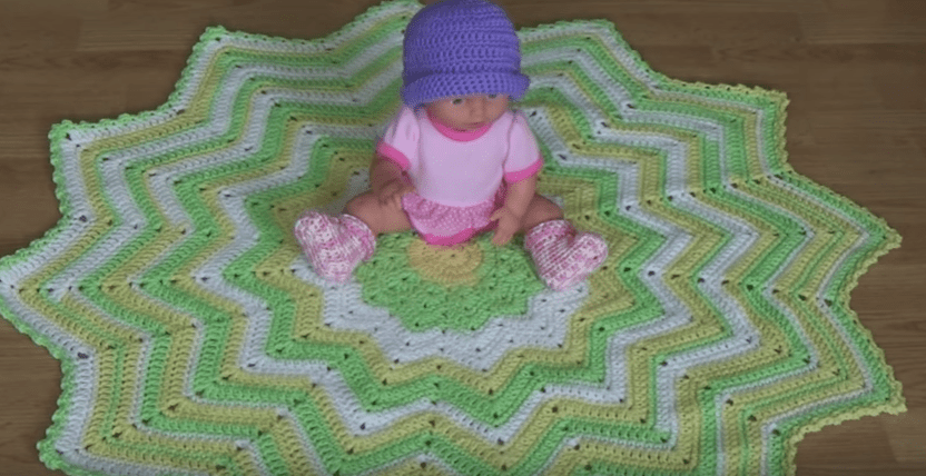 12 Pointed Star Baby Afghan Kit Creative Grandma