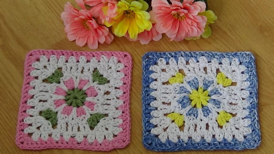 # 535 Floral lace granny Square