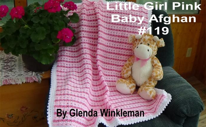 CG #119 Little Girl Pink Baby Afghan pic