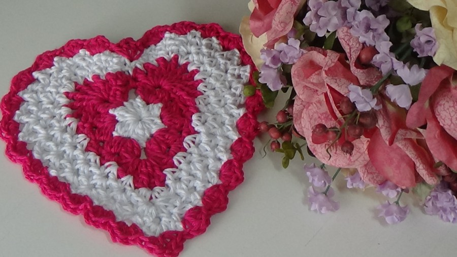 #520 Heart Dishcloth