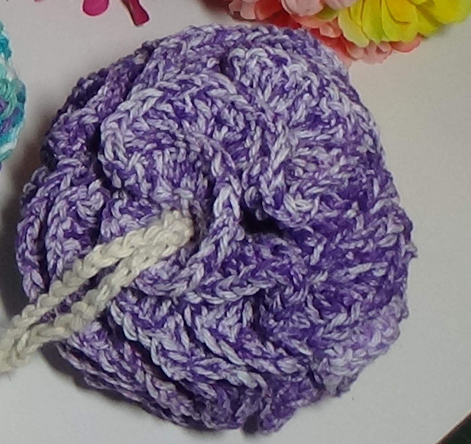 Bath Pouf Scrubby Ball Crochet Kit 522 Violet Splash Creative