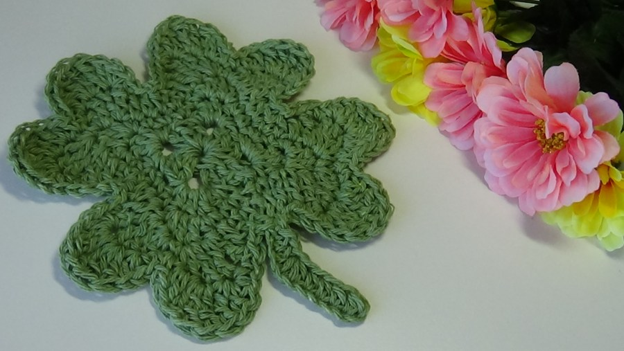 Four Leaf Clover Dishcloth (002)