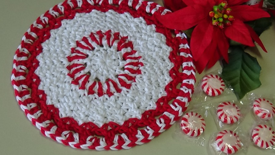 Christmas cANDY DISHCLOTH