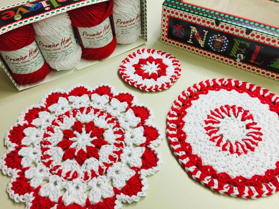 christmas Cotton Gift Box red and white