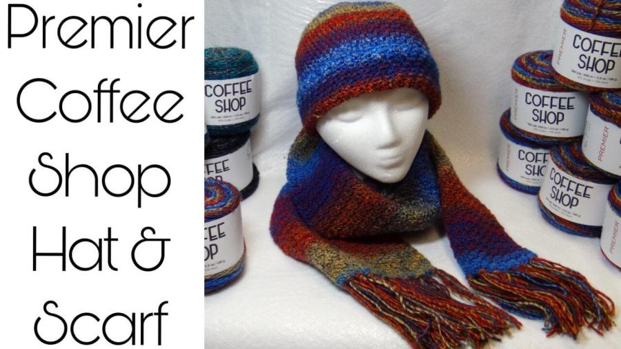 thumbnail COFFEE SHOP hat and scarf set