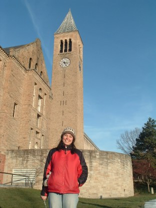 """""""Me at Cornell University, the graduate school where my identity issues came to a head."""""""