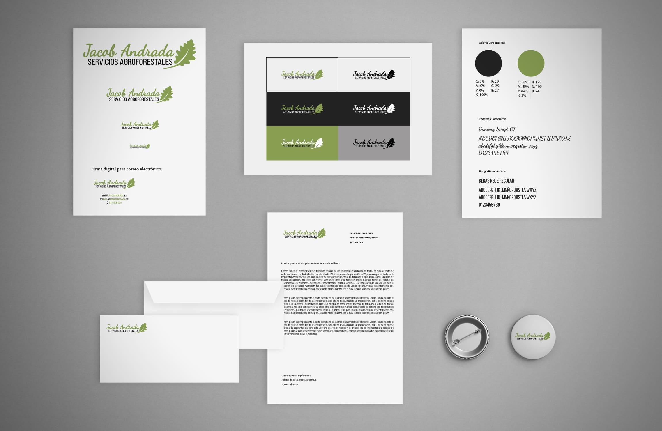Diseño logotipo e identidad corporativa