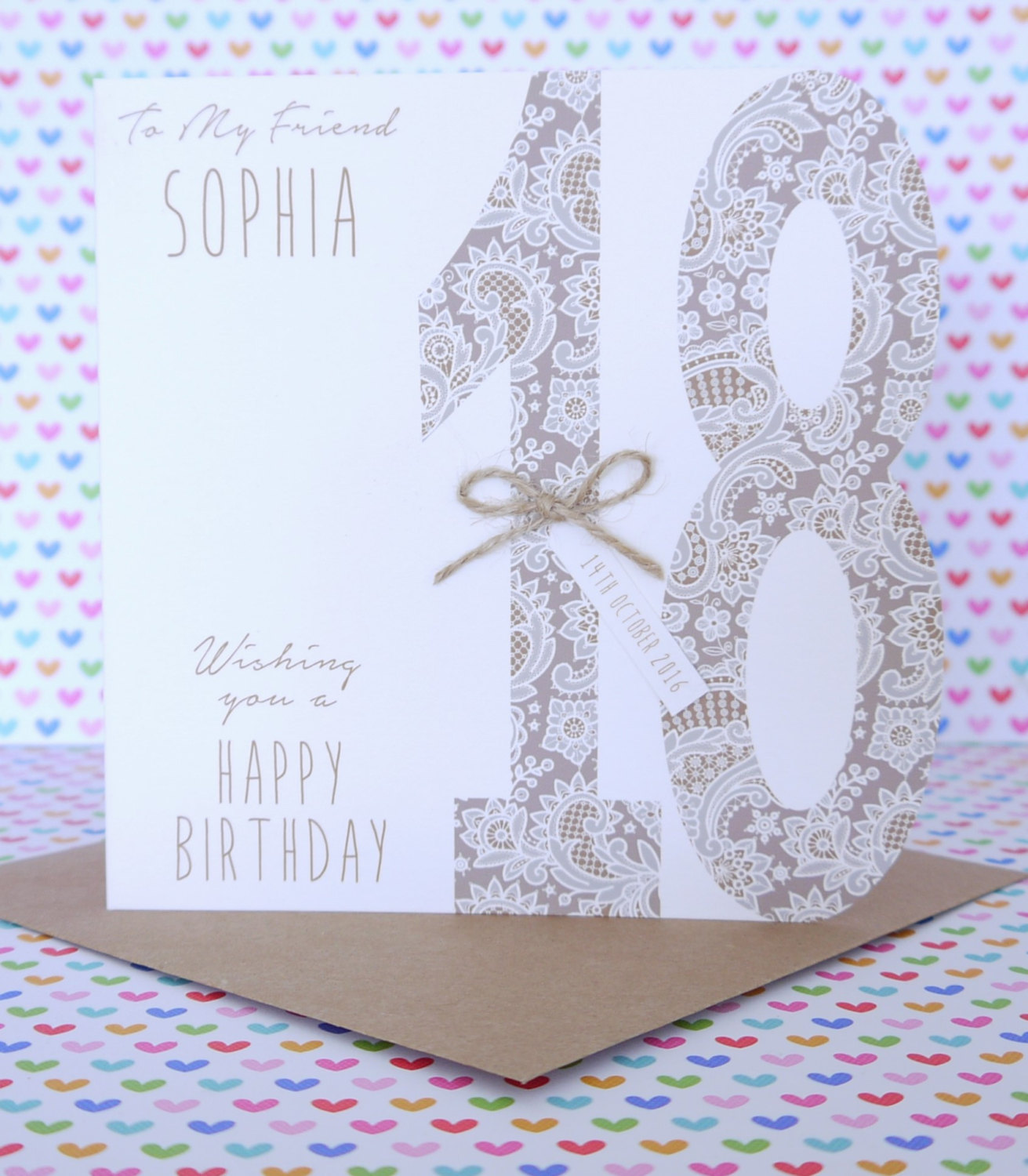 Beautiful Personalised Handmade Birthday Card 18th 21st