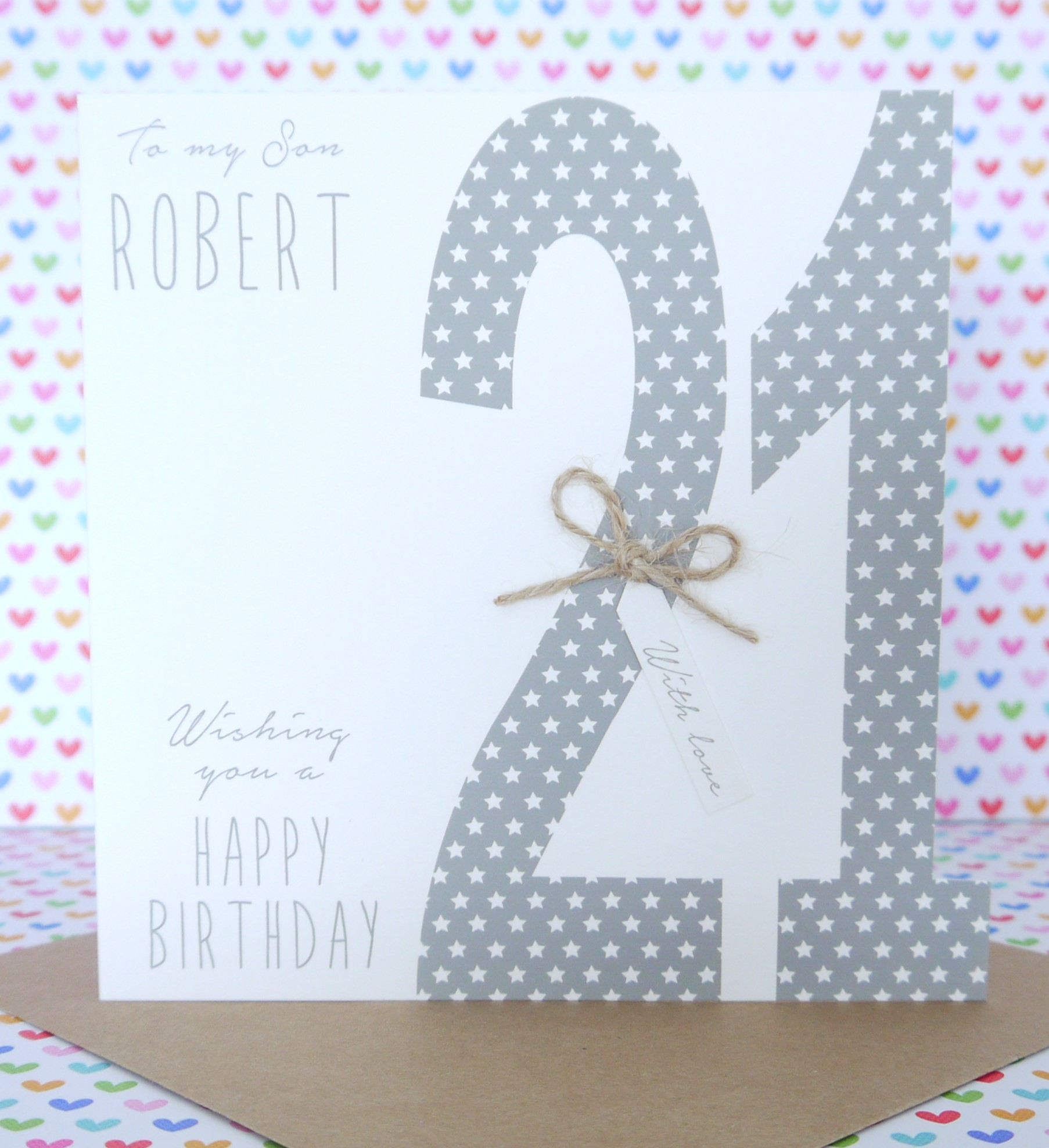Personalised Handmade Male Birthday Card 18th 21st 30th