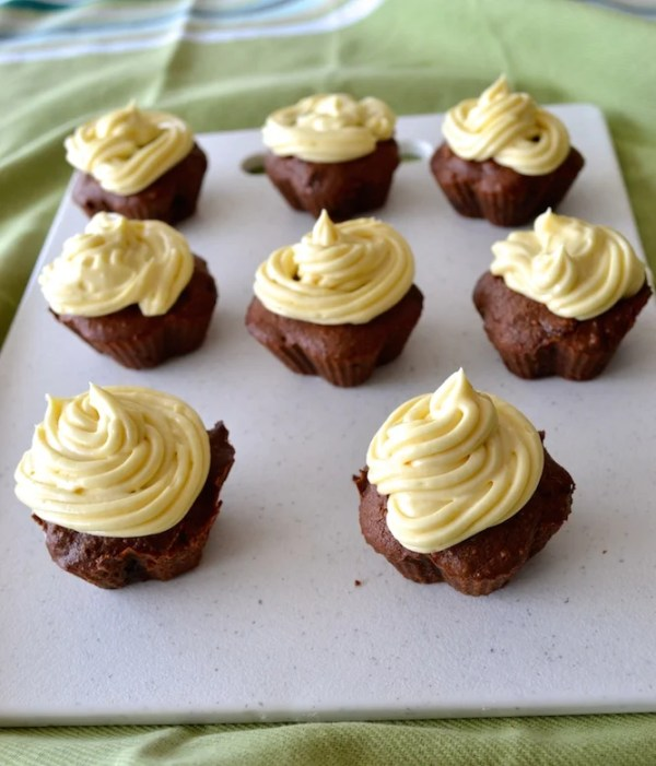Cacao Almond Meal Cupcakes Cream Cheese Frosting