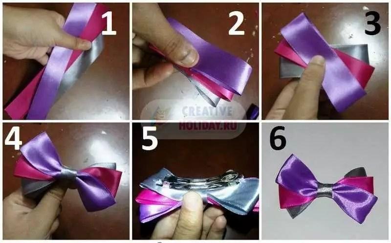 Mga magagandang pintuan mula sa mga ribbons