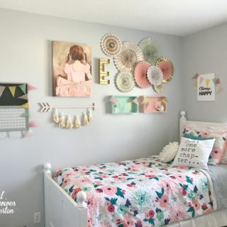 Girl's small bedroom makeover - housewivesofriverton.com