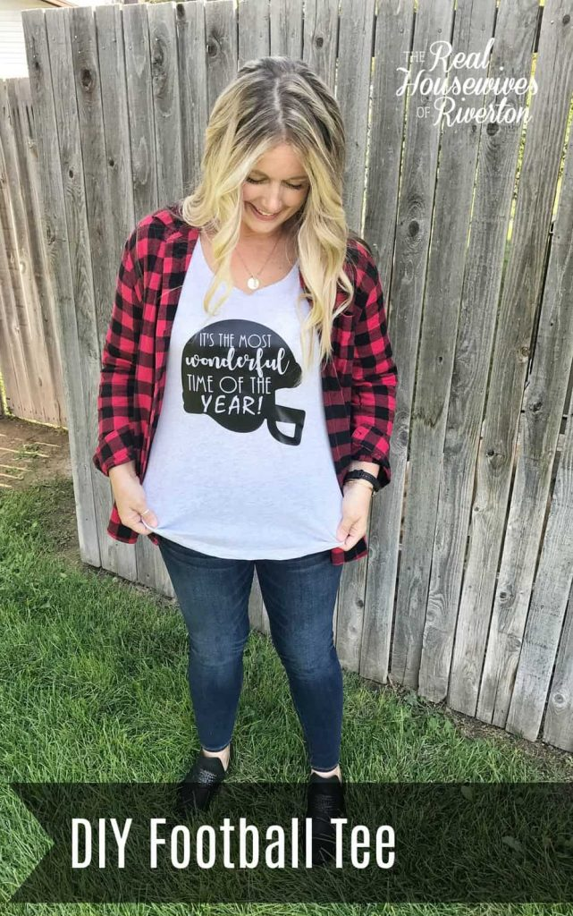 DIY Football Tee with Cricut Maker - housewivesofriverton.com - cut file included