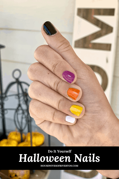 DIY Halloween Nails - pinnable