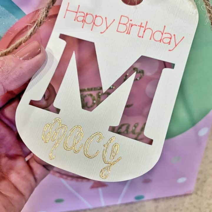 Foil Birthday Gift Tag