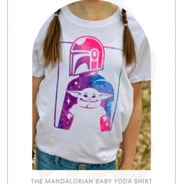 The Mandalorian Baby Yoda Shirt - DIY Tutorial