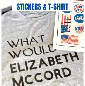 Election Day Stickers & T-shirt