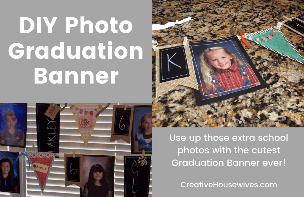 DIY Graduation Banner with photos featured image