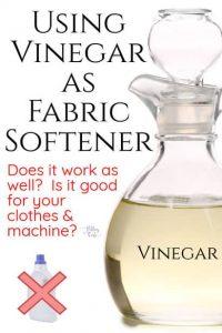 Use Vinegar as Fabric Softener