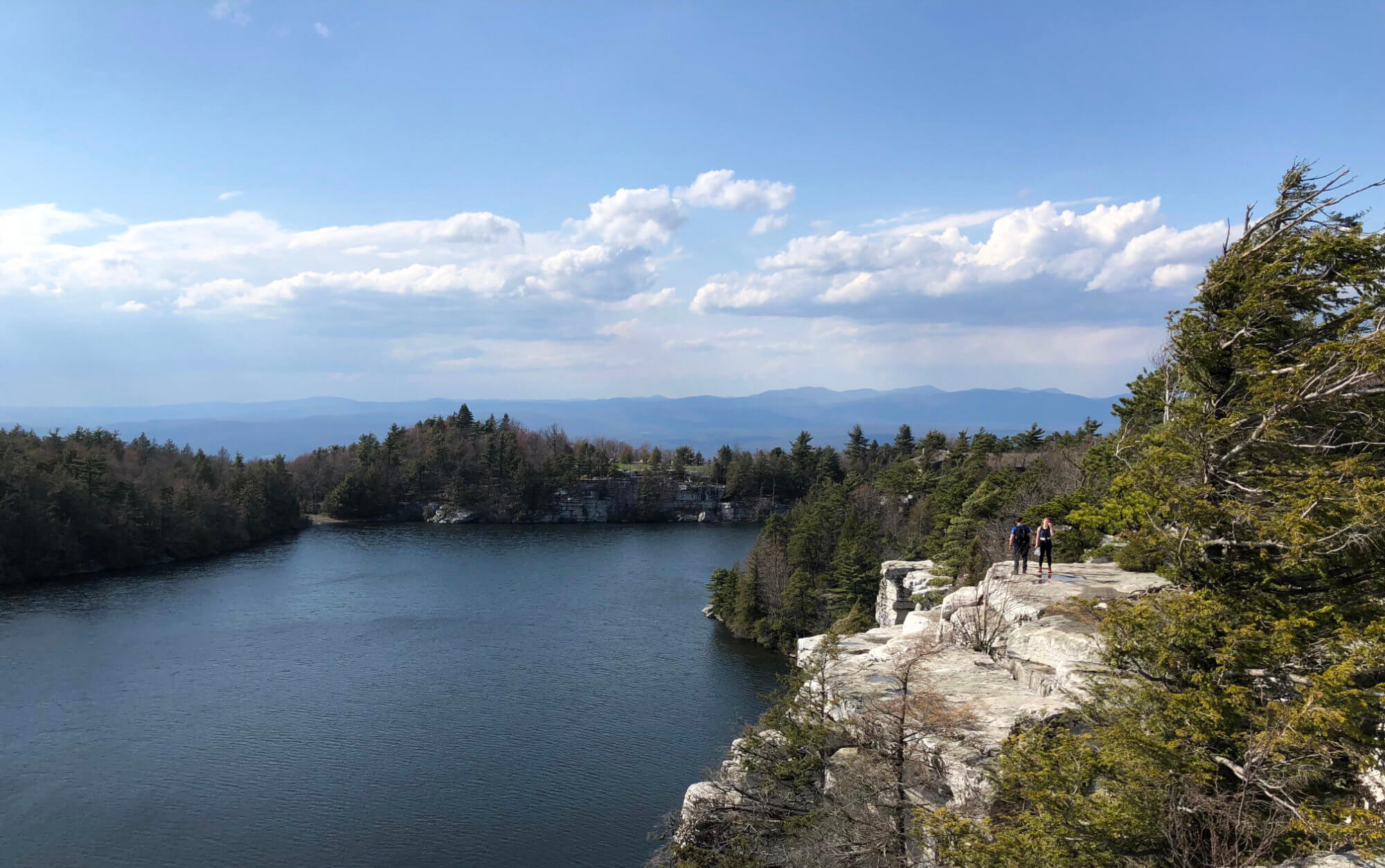 Cliffs above Lake Minnewaska